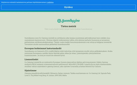 Screenshot of About Page suomikasino.com - Suomikasino   Nettikasino Suomalaisille, uusimmat pelit ja parhaat tarjoukset - captured June 4, 2019