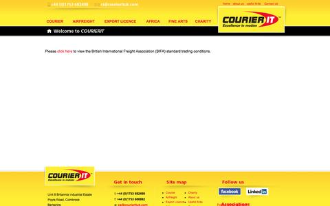 Screenshot of Terms Page courierituk.com - Terms and Conditions | CourierIT – Specialist courier and freight services to Africa - captured Feb. 1, 2016