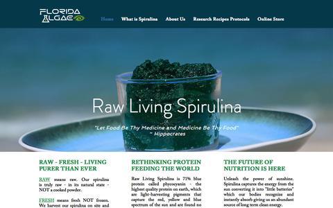 Screenshot of Home Page rawlivingspirulina.com - Raw Spirulina | A Fresh Living Paste - captured Jan. 27, 2017