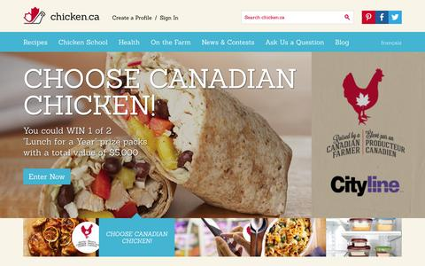 Screenshot of Home Page chicken.ca - Home » Chicken.ca - captured Sept. 19, 2014