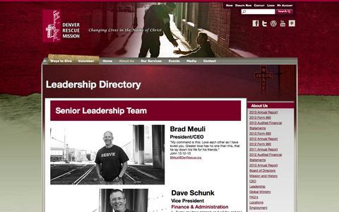 Screenshot of Team Page denverrescuemission.org - Denver Rescue Mission - captured Sept. 30, 2014