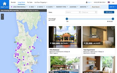 Screenshot of Support Page livephuket.com - Long term Rental for Phuket Villas, Apartments & Condos   LivePhuket - captured Dec. 11, 2015