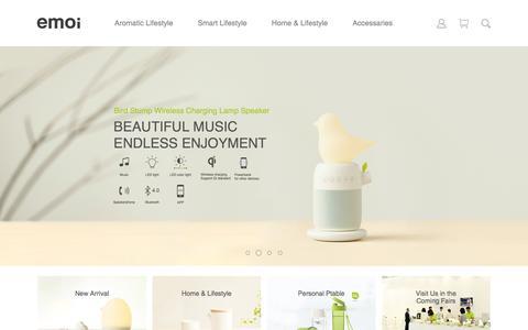 Screenshot of Home Page emoi.com - HOME-EMOI - captured May 24, 2017