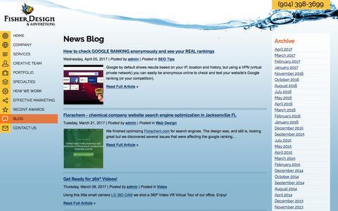 Screenshot of Blog maryfisherdesign.com - Website, SEO case studies and tips Jacksonville FL, Orange Park, Amelia Island, Ponte Vedra - captured June 10, 2017