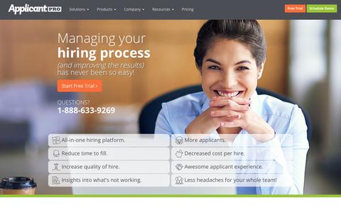 Managing your hiring process | ApplicantPro