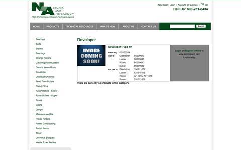 Screenshot of Developers Page natrading.com captured Oct. 9, 2014