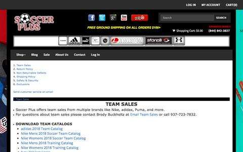Screenshot of Privacy Page Support Page Terms Page soccerplususa.com - Welcome to Soccer Plus | Soccer Shoes | Soccer Gear - captured July 8, 2018