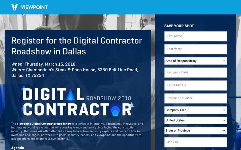 Register for the Digital Contractor Roadshow in Dallas