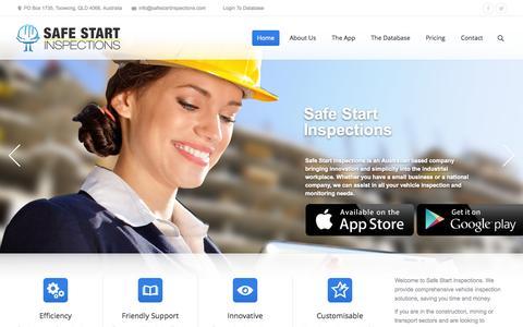 Screenshot of Home Page safestartinspections.com - Safe Start Inspections | Pre-Start Inspections Made Easy - captured Sept. 30, 2014