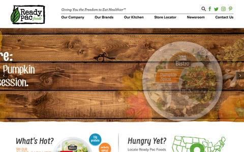 Screenshot of Home Page readypac.com - Ready Pac - Giving You the Freedom to Eat Healthier™ - captured Nov. 16, 2016