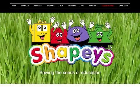 Screenshot of Login Page shapeys.com - Teacher Zone | Shapeys - captured Nov. 5, 2014