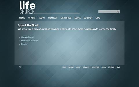 Screenshot of Press Page lifechurchonline.org - Media «  LifeChurchOnline.org – Auburndale, FL - captured Oct. 2, 2014