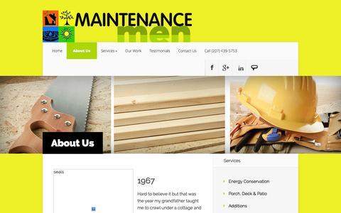 Screenshot of About Page maintenancemen.com - About Us - Maintenance Men | Maintenance Men - captured Sept. 26, 2014