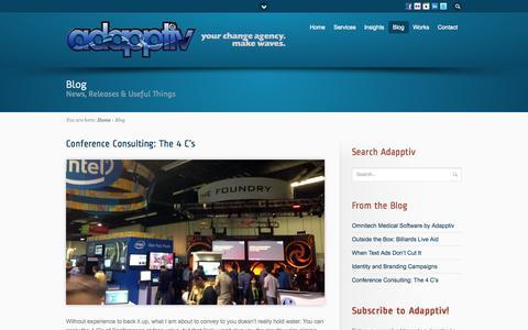Screenshot of Blog adapptiv.com - Blog - captured Oct. 1, 2014
