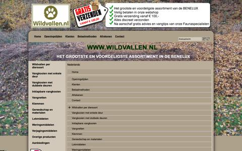 Screenshot of Site Map Page Menu Page wildvallen.nl - Map - captured Oct. 22, 2018