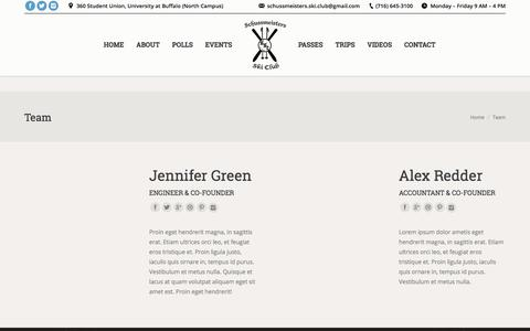 Screenshot of Team Page schussmeisters.com - Team – Schussmeisters Ski Club - captured Sept. 30, 2017