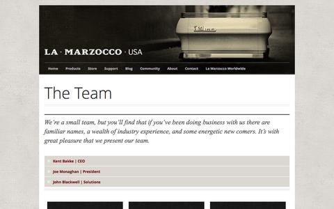 Screenshot of Team Page lamarzoccousa.com - The Team - captured Sept. 23, 2014