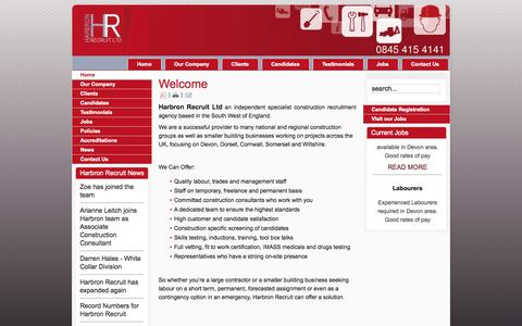 Screenshot of Home Page harbronrecruit.co.uk - Harbron Recruit - captured Oct. 2, 2014