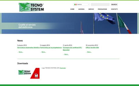 Screenshot of Services Page tecnosystem.it - News e Download elettronica Tecno-SystemTECNO SYSTEM SpA | - captured Oct. 7, 2014
