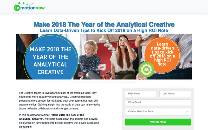 inMotionNow | Make 2018 The Year of Data Driven Creative