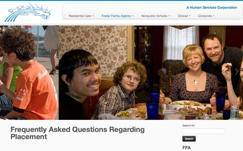 Screenshot of FAQ Page creative-alternatives.org - Frequently Asked Questions Regarding Placement | Creative Alternatives, Inc. - captured Oct. 3, 2014