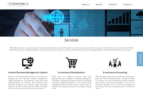 Screenshot of Services Page e-commerce-hongkong.com - Business and Financial Technology Fintech Consulting Services, Ecommerce Solutions | Cloud - captured March 12, 2017