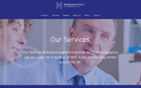 Screenshot of Services Page healthcare-matters.com - Services | Healthcare Matters - captured May 16, 2017