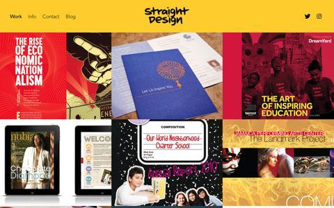 Screenshot of Home Page str8tdesign.com - Straight Design - captured Sept. 24, 2018