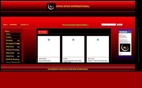 Screenshot of Home Page epokepok.com - Home - Epok Epok International - captured Sept. 19, 2015
