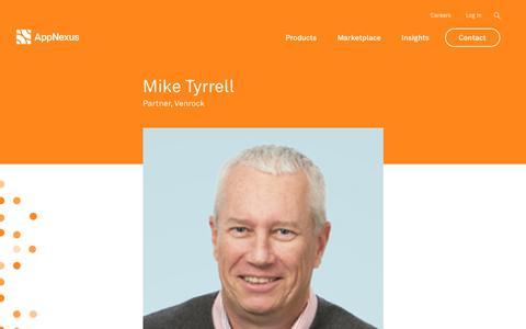 Screenshot of Team Page appnexus.com - Mike Tyrrell | AppNexus - captured June 22, 2018