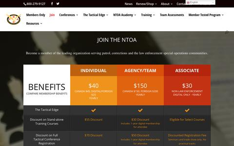 Screenshot of Signup Page ntoa.org - Membership | NTOA - captured Nov. 15, 2017
