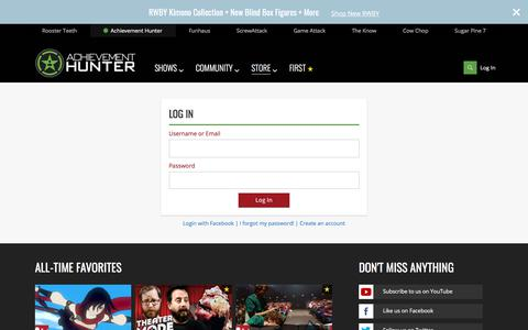 Screenshot of Login Page roosterteeth.com - Login - captured Nov. 20, 2017