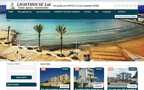 Screenshot of Site Map Page lighthouseturkey.com - Turkey Property kusadasi property in turkey property for sale turkey - captured Oct. 3, 2014