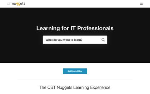 Online IT Training Videos, IT Certification Training | CBT Nuggets
