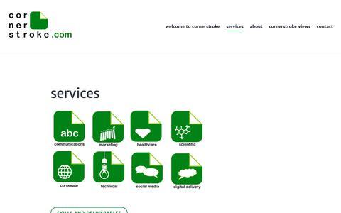 Screenshot of Services Page wordpress.com - services - captured Sept. 29, 2018
