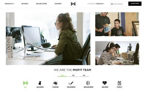 Screenshot of Team Page misfit.com - Misfit - captured Oct. 27, 2014
