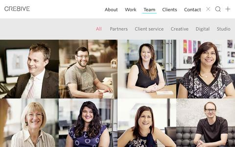 Screenshot of Team Page cre8ive.com.au - Digital Producer position  – CRE8IVE - captured July 17, 2015
