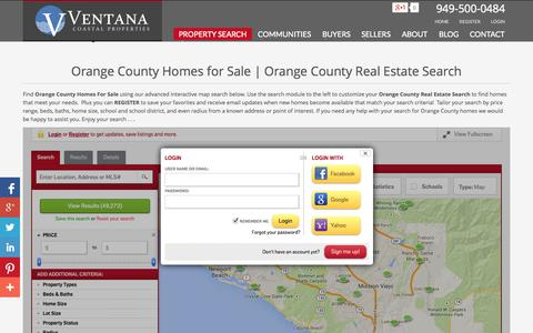 Screenshot of Login Page findcarealestate.com - Orange County Homes for Sale | Search Orange County Real Estate Listings - captured Oct. 7, 2014