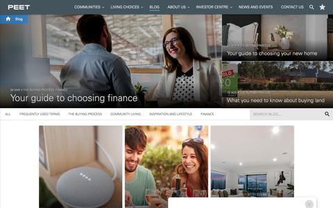 Screenshot of Blog peet.com.au - Peet's Advice & Lifestyle Blog | First Home, Investment Property & Real Estate Tips - captured Sept. 27, 2018