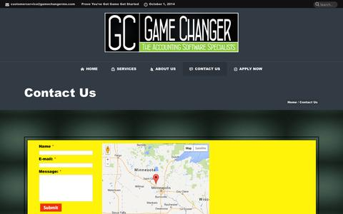 Screenshot of Contact Page gamechangermn.com - Contact Us | Game Changer - captured Oct. 1, 2014