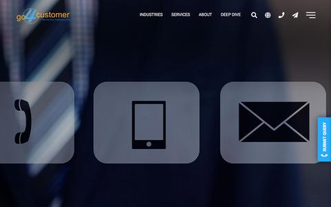 Screenshot of Contact Page go4customer.com - General Inquiry Form - Go4customer - captured Sept. 15, 2019