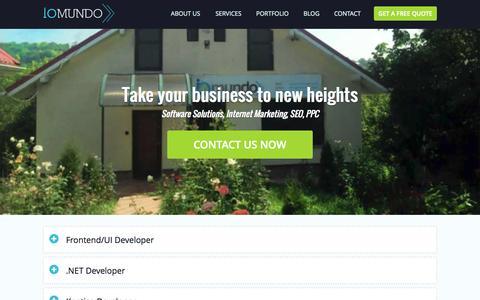 Screenshot of Jobs Page iomundo.com - IOmundo - Jobs - captured Sept. 30, 2014