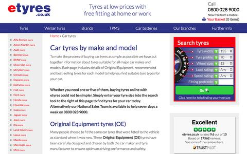 Buy Cheap Car Tyres With Free Mobile Tyre Fitting - etyres