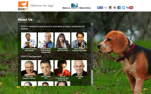 Screenshot of About Page dogtv.com - About Us | DOGTV - captured Sept. 23, 2014