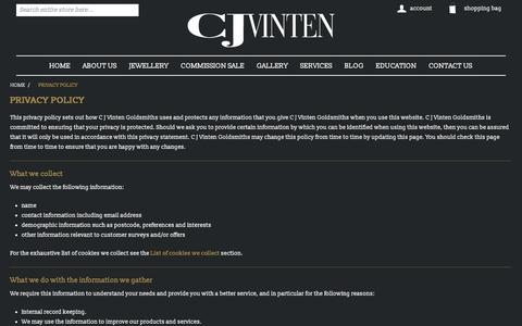 Screenshot of Privacy Page cjvinten.co.uk - Privacy Policy | cjvinten.co.uk - captured Sept. 25, 2018