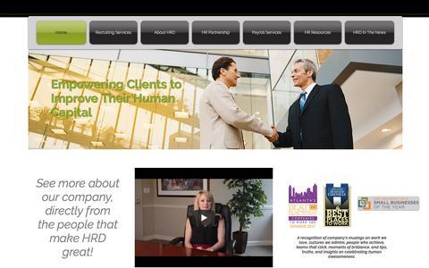 Screenshot of Home Page hrdracc.com - Human Resource Dimensions - captured Sept. 19, 2017