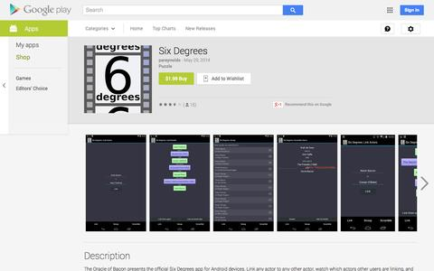 Screenshot of Android App Page google.com - Six Degrees - Android Apps on Google Play - captured Oct. 31, 2014