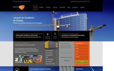 Screenshot of Home Page tecnogerageradores.com.br - Tecnogera | Locação de Geradores - captured Sept. 30, 2014