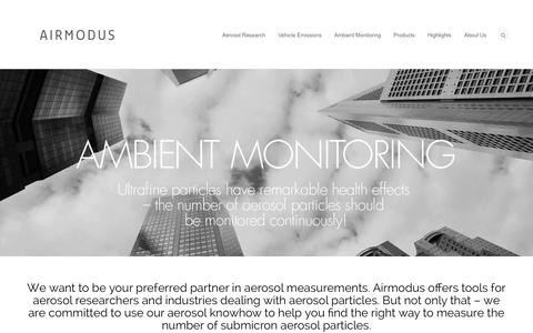 Screenshot of Home Page airmodus.com - Airmodus | It's the small things that count - captured Sept. 30, 2014