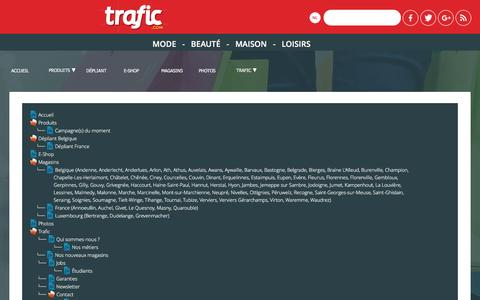 Screenshot of Site Map Page trafic.com - Le Sitemap du site Internet Trafic.com - Trafic - captured May 27, 2017